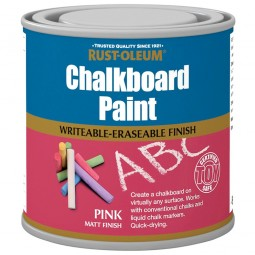 Rust-Oleum Pink Chalkboard Paint Matt Finish - 250ml