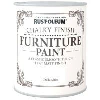 Rust-Oleum Chalky Finish Furniture Paint Chalk White Matt 125ml
