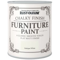 Rust-Oleum Chalky Finish Furniture Paint Antique White Matt 125ml