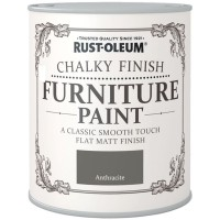 Rust-Oleum Chalky Finish Furniture Paint Anthracite Grey Matt 125ml
