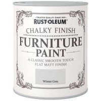 Rust-Oleum Chalky Finish Furniture Paint Winter Grey Matt 125ml