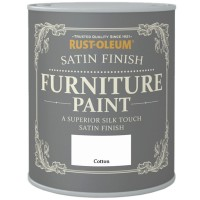 Rust-Oleum Satin Finish Furniture Paint Cotton 750ml