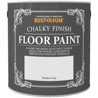 Rust-Oleum Chalky Finish Floor Paint Winter Grey - 2.5 Litre