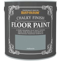Rust-Oleum Chalky Finish Floor Paint Anthracite - 2.5 Litre