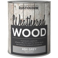 Rust-Oleum Weathered Wood Effect Paint Ash Grey - 750ml
