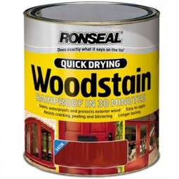 Ronseal Quick Drying Exterior Satin Woodstain Mahogany 750ml