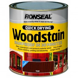 Ronseal Quick Drying Exterior Satin Woodstain Teak 250ml