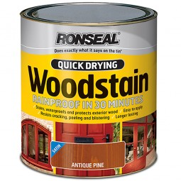 Ronseal Quick Drying Exterior Satin Woodstain Antique Pine 250ml