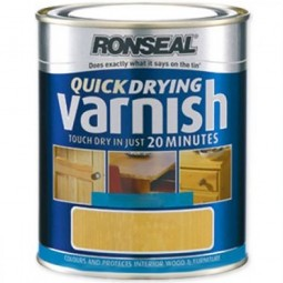 Ronseal Quick Drying Clear Varnish Satin Finish - 750ml