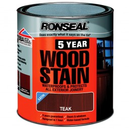 Ronseal 5 Year Woodstain Protect and Colour 750ml - Teak