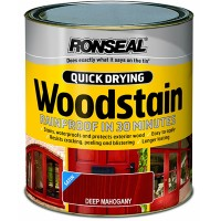 Ronseal Quick Drying Exterior Satin Woodstain Deep Mahogany 250ml