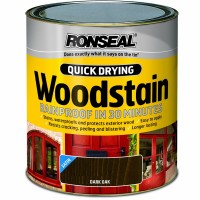 Ronseal Quick Drying Exterior Satin Woodstain Dark Oak 2.5 Litre