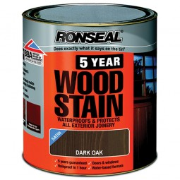 Ronseal 5 Year Woodstain Protect and Colour 2.5 Litres - Dark Oak