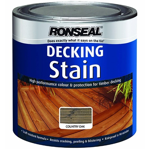 Ronseal decking stain 2 5l country oak for Evergrain decking reviews