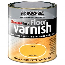 Ronseal Diamond Hard Floor Varnish Light Oak - 2.5 Litre