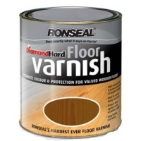 Ronseal Diamond Hard Floor Varnish Dark Oak - 2.5 Litre
