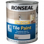 Ronseal One Coat Tile Paint Granite Grey Satin - 750ml