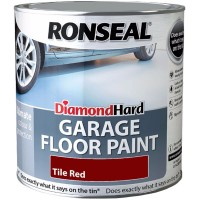 Ronseal Diamond Hard Garage Floor Paint Satin Tile Red - 2.5 Litre
