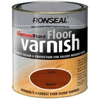Ronseal Diamond Hard Floor Varnish Walnut - 2.5 Litre