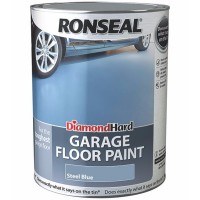 Ronseal Diamond Hard Garage Floor Paint Satin Steel Blue - 5 Litre