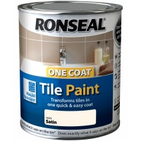 Ronseal One Coat Tile Paint Ivory Satin - 750ml