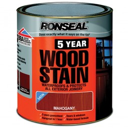 Ronseal 5 Year Woodstain Protect and Colour 750ml - Mahogany