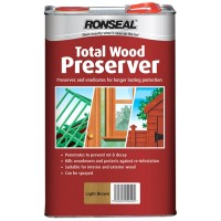 Ronseal Multi Purpose Total Wood Preserver Light Brown - 5 Litre