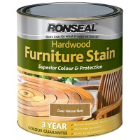 Ronseal Hardwood Furniture Stain Clear Natural Matt - 750ml