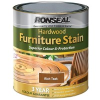 Ronseal Hardwood Furniture Stain Rich Teak - 750ml