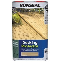 Ronseal Hardwood and Softwood Decking Protector 5 Litre - Natural