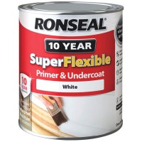 Ronseal Super Flexible Primer and Undercoat Exterior Wood White 750ml