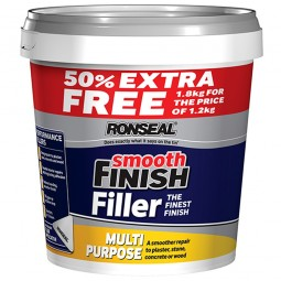 Ronseal Multi Purpose Smooth Finish Wall Filler Ready Mix Tub - 1.2kg