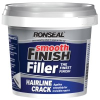 Ronseal Hairline Crack Smooth Finish Wall Filler Ready Mix Tub - 600g