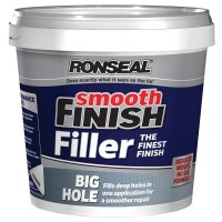 Ronseal Big Hole Deep Gap Smooth Finish Wall Filler Ready Mix Tub 1.2L