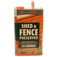 Ronseal Shed and Fence Preserver Green - 5 Litre