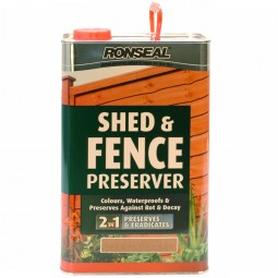 Ronseal Shed and Fence Preserver Autumn Brown - 5 Litre