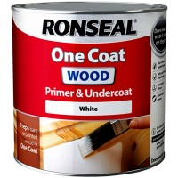 Ronseal One Coat Wood Primer and Undercoat  White - 250ml
