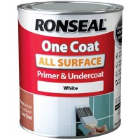 Ronseal One Coat All Surface Primer and Undercoat  White - 750ml