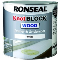 Ronseal Knot Block Wood Primer and Undercoat  White - 250ml