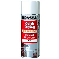 Ronseal Quick Drying All Surface Primer and Undercoat Aerosol White - 400ml
