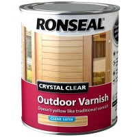 Ronseal Crystal Clear Outdoor Varnish Clear Satin Finish - 750ml