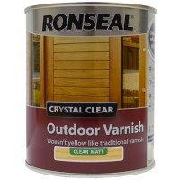Ronseal Crystal Clear Outdoor Varnish Clear Matt Finish - 750ml