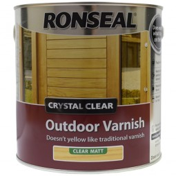 Ronseal Crystal Clear Outdoor Varnish Clear