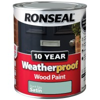 Ronseal 10 Year Weatherproof Wood Paint 750ml Satin Duck Egg