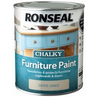 Ronseal Chalky Finish Furniture Paint Dove Grey - 750ml