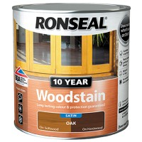 Ronseal 10 Year Woodstain 750ml Oak