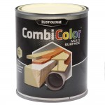 Rust-Oleum CombiColor Multi-Surface Paint 750ml Gloss Clear Ivory RAL1015