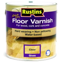 Rustins Acrylic Quick Drying Floor Coating Gloss Clear - 2.5 Litre