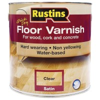 Rustins Acrylic Quick Drying Floor Coating Satin Clear - 1 Litre