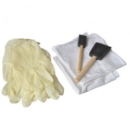Rustins Application Kit Gloves Cloths and Foam Brushes